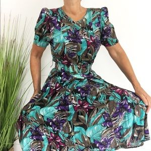 Tropicana Novelty Print Dress